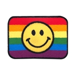 Rainbow Flag Smiley Patch