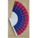 Bisexual hand fan