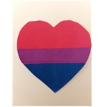 Temporary Tattoo Bisexual Heart