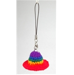 Rainbow Hat Phone Strap