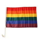 Rainbow car flag 30x45 cm