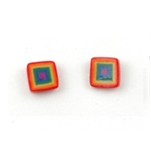 Fimo Earrings Small Square