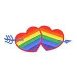 Rainbow Hearts Patch
