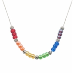 Rainbow Glass Beads Necklace